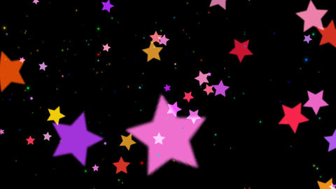 Transition Stars Pink Red Color stock footage