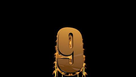 Hot Countdown I Big Version stock footage