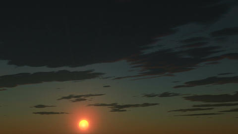 Sunrise Time Lapse stock footage