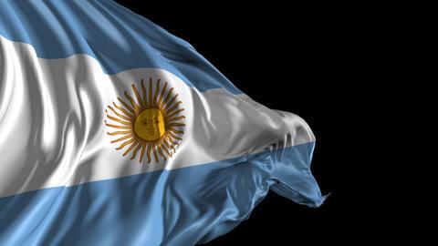 Flag of Argentina Animation
