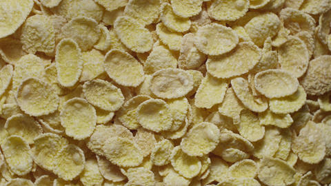 Corn Flakes Rotating Top View stock footage