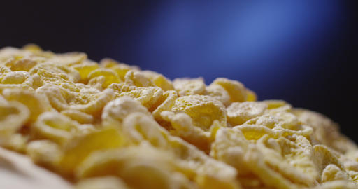 corn flakes falling Footage