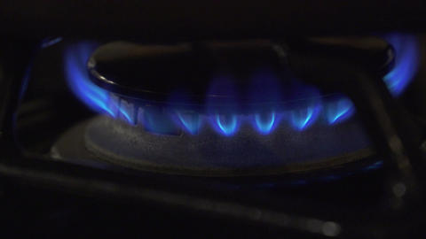 Views Of A Propane Gas Burner (4 Of 8) stock footage
