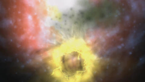 Digital Animation of a cosmic Inferno Animation