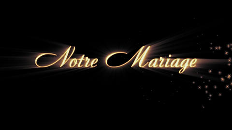 Notre Mariage (french) Animation