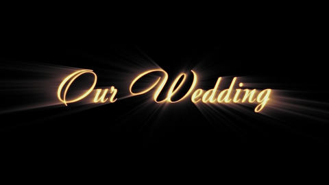 Our Wedding, Stock Animation