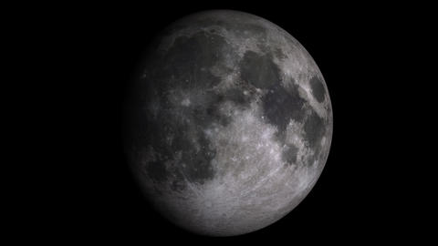 Loopable W/Alpha: Moon Phases / Moon Surface / Lunar Surface Footage