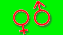 Gender symbols are moving CG動画素材