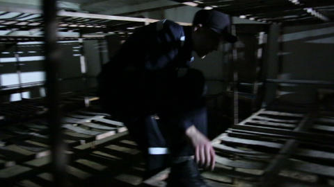 The prison bunks Footage