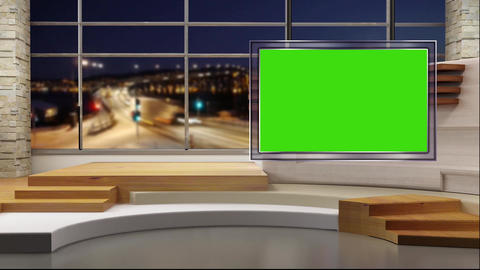 News TV Studio Set 47 - Virtual Background Loop Footage