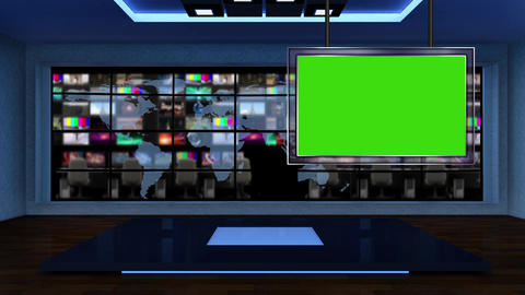 News TV Studio Set 52 - Virtual Background Loop Footage