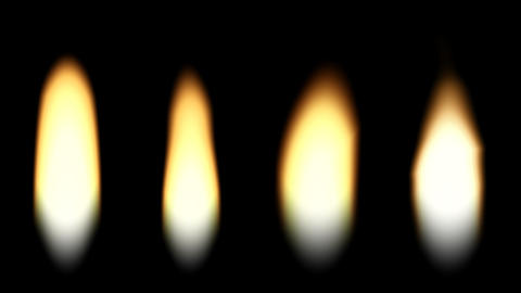 Four flames of a candle. loop Stock Video Footage