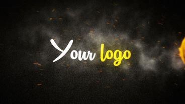 Burning Car Wheel Logo Reveal After Effects Template