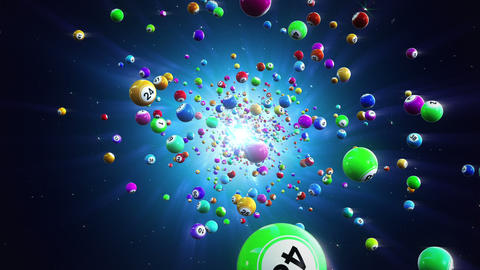 Lottery balls loopable background Animation