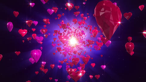 Hearts loopable background, Stock Animation