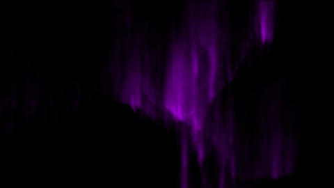 purple light & aurora in sky Stock Video Footage