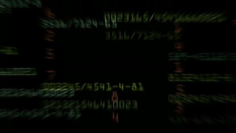 number,Looping stock exchange data,computer program... Stock Video Footage