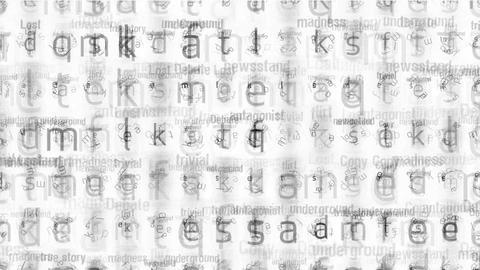 alphabet matrix background,letter,computer... Stock Video Footage