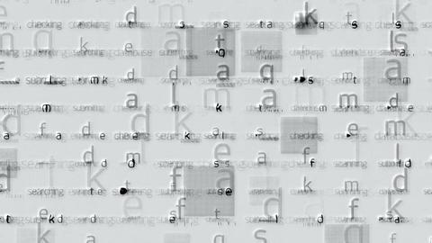 letter matrix background,alphabet,computer... Stock Video Footage