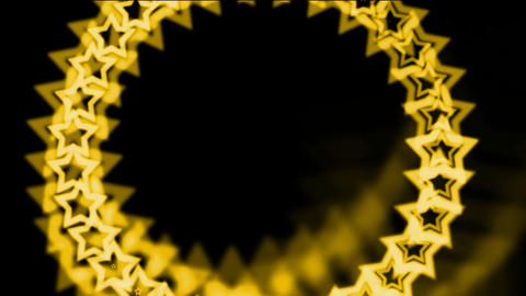 golden stars made up of aura,seamless... Stock Video Footage