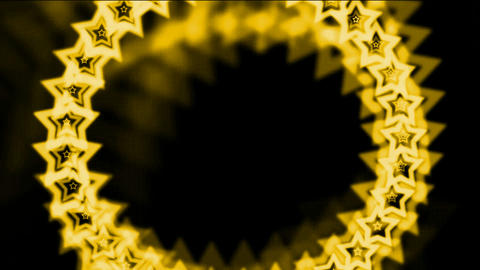 golden stars made up of aura,seamless loop.diamonds,gold,necklace,jewelry,chains,nobility,antiques,l Animation