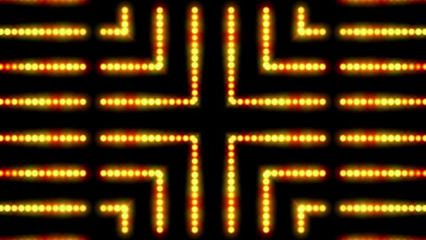 flare golden beads shaped neon light,cable circuit,stage... Stock Video Footage