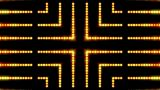 Flare Golden Beads Shaped Neon Light,cable Circuit,stage Background And Hollywood. stock footage