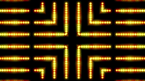 flare golden beads shaped neon light,cable circuit,stage background and Hollywood Animation