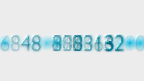 blue plastic number,credit card figures,business... Stock Video Footage