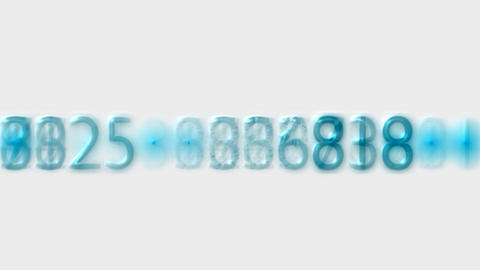 blue plastic number,credit card figures,business background.seconds,hours,minutes,moment,tables,cloc Animation