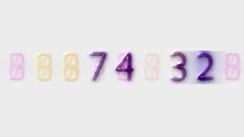 purple glass number,credit card figures,business... Stock Video Footage