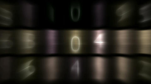 metal and number,blur light,finance figure background Stock Video Footage