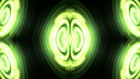 crystal or agate profile,nucleus,green pulse & light Stock Video Footage