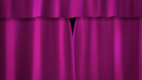 Barbie pink curtains stage Stock Video Footage