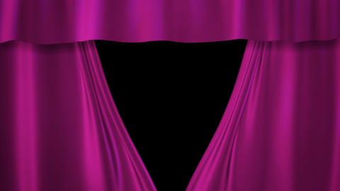 Barbie pink curtains stage Animation