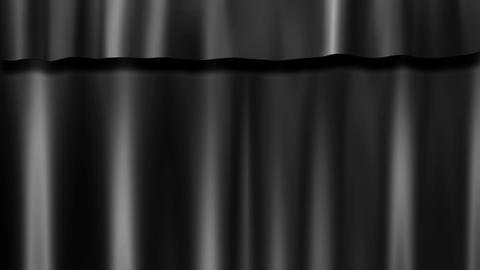 dark curtains stage Stock Video Footage