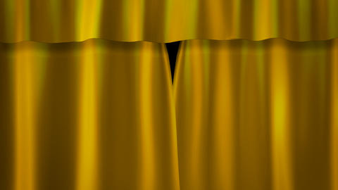 gold curtains stage Animation