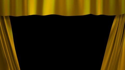 gold curtains stage Stock Video Footage