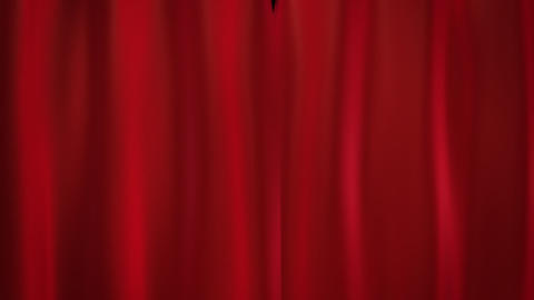 red curtains Stock Video Footage