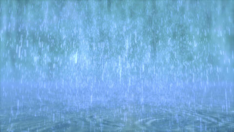 Rain falls Stock Video Footage