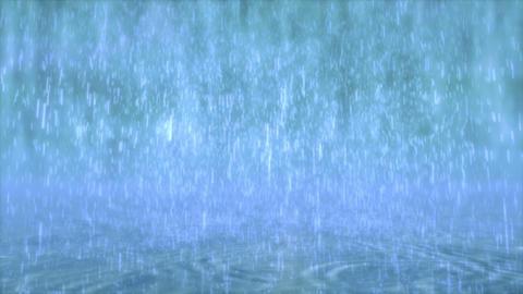 Rain falls Stock Video Footage