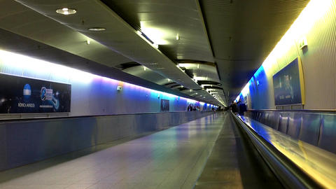 Airport Tunnel 02 Stock Video Footage