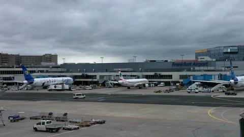 Frankfurt Airport Germany 02 Stock Video Footage