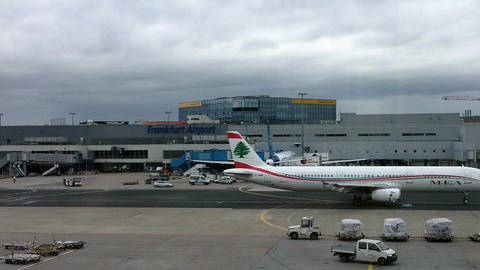 Frankfurt Airport Germany 06 Footage