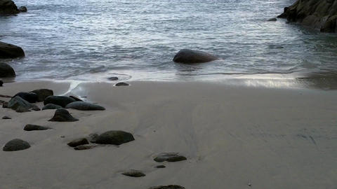 Island Shore Evening 02 Stock Video Footage
