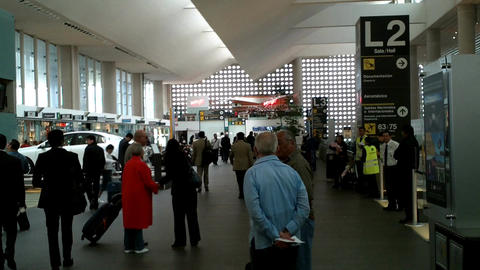 Mexico City Benito Juarez Airport Terminal 2 01 Stock Video Footage