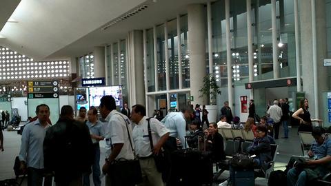 Mexico City Benito Juarez Airport Terminal 2 03 Stock Video Footage