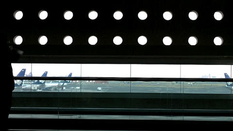 Mexico City Benito Juarez Airport Terminal 2 05 Stock Video Footage