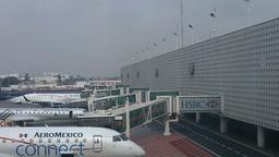 Mexico City Benito Juarez Airport Terminal 2 07 Stock Video Footage
