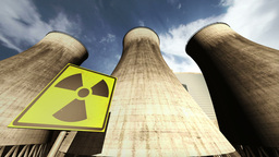 Nuclear Station Cooling Towers Timelapse v2 09 Stock Video Footage